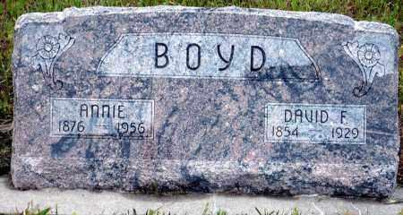 BOYD, DAVID F. - Keya Paha County, Nebraska | DAVID F. BOYD - Nebraska Gravestone Photos