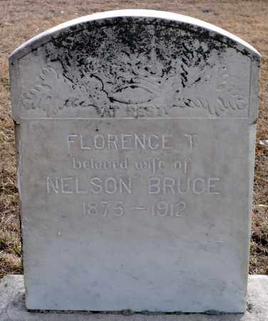 BRUCE, FLORENCE T. - Keya Paha County, Nebraska | FLORENCE T. BRUCE - Nebraska Gravestone Photos