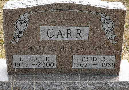 CARR, FRED R. - Keya Paha County, Nebraska | FRED R. CARR - Nebraska Gravestone Photos
