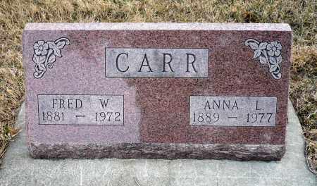 CARR, FRED W. - Keya Paha County, Nebraska | FRED W. CARR - Nebraska Gravestone Photos