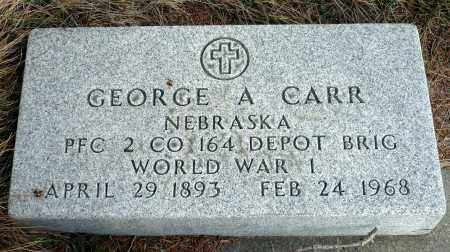 CARR, GEORGE A. - Keya Paha County, Nebraska | GEORGE A. CARR - Nebraska Gravestone Photos