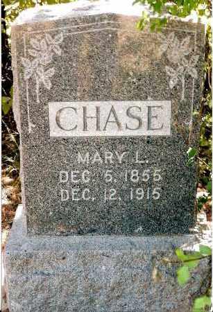 CHASE, MARY L. - Keya Paha County, Nebraska | MARY L. CHASE - Nebraska Gravestone Photos