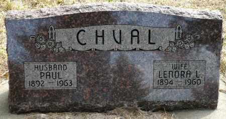 CHVAL, LENORA L. - Keya Paha County, Nebraska | LENORA L. CHVAL - Nebraska Gravestone Photos