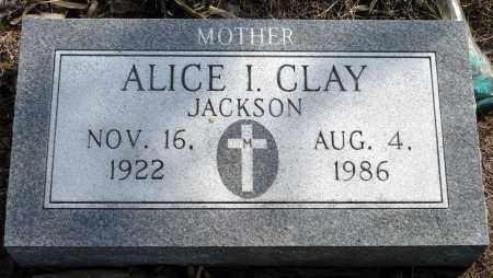JACKSON CLAY, ALICE I. - Keya Paha County, Nebraska | ALICE I. JACKSON CLAY - Nebraska Gravestone Photos