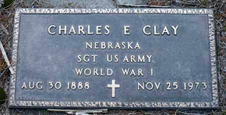CLAY, CHARLES E. - Keya Paha County, Nebraska | CHARLES E. CLAY - Nebraska Gravestone Photos