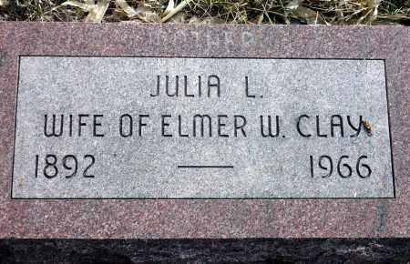 CLAY, JULIA L. - Keya Paha County, Nebraska | JULIA L. CLAY - Nebraska Gravestone Photos