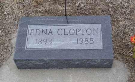 CLOPTON, EDNA - Keya Paha County, Nebraska | EDNA CLOPTON - Nebraska Gravestone Photos