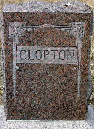 CLOPTON, FAMILY - Keya Paha County, Nebraska | FAMILY CLOPTON - Nebraska Gravestone Photos