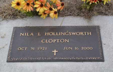 CLOPTON, NILA L. HOLLINGSWORTH - Keya Paha County, Nebraska   NILA L. HOLLINGSWORTH CLOPTON - Nebraska Gravestone Photos