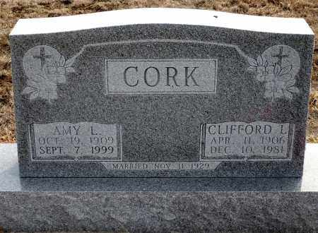 CORK, AMY L. - Keya Paha County, Nebraska | AMY L. CORK - Nebraska Gravestone Photos
