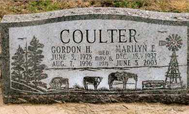 FOX COULTER, MARILYN E. - Keya Paha County, Nebraska | MARILYN E. FOX COULTER - Nebraska Gravestone Photos