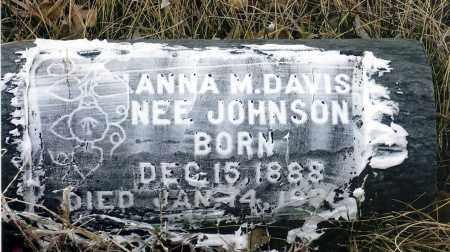 JOHNSON DAVIS, ANNA M. - Keya Paha County, Nebraska | ANNA M. JOHNSON DAVIS - Nebraska Gravestone Photos