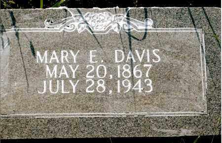 DAVIS, MARY E. - Keya Paha County, Nebraska | MARY E. DAVIS - Nebraska Gravestone Photos