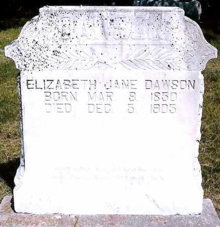 DAWSON, ELIZABETH JANE - Keya Paha County, Nebraska   ELIZABETH JANE DAWSON - Nebraska Gravestone Photos