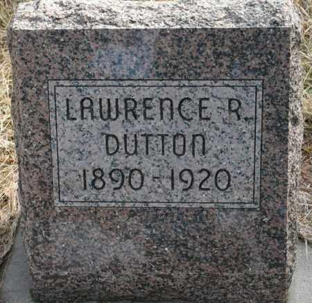 DUTTON, LAWRENCE R. - Keya Paha County, Nebraska   LAWRENCE R. DUTTON - Nebraska Gravestone Photos