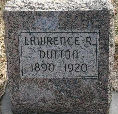 DUTTON, LAWRENCE R. - Keya Paha County, Nebraska | LAWRENCE R. DUTTON - Nebraska Gravestone Photos