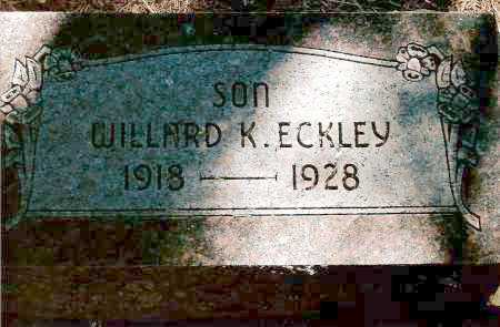 ECKLEY, WILLARD K. - Keya Paha County, Nebraska   WILLARD K. ECKLEY - Nebraska Gravestone Photos