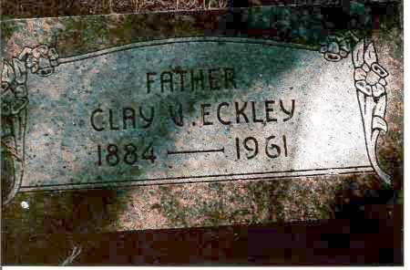 ECKLEY, CLAY V. - Keya Paha County, Nebraska | CLAY V. ECKLEY - Nebraska Gravestone Photos