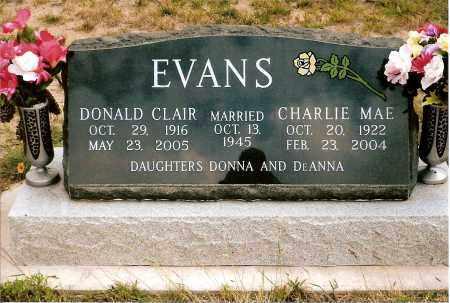 EVANS, CHARLIE MAE - Keya Paha County, Nebraska | CHARLIE MAE EVANS - Nebraska Gravestone Photos