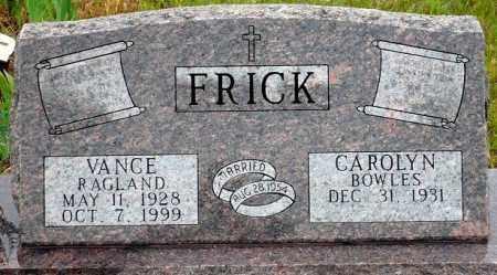 FRICK, VANCE RAGLAND - Keya Paha County, Nebraska | VANCE RAGLAND FRICK - Nebraska Gravestone Photos