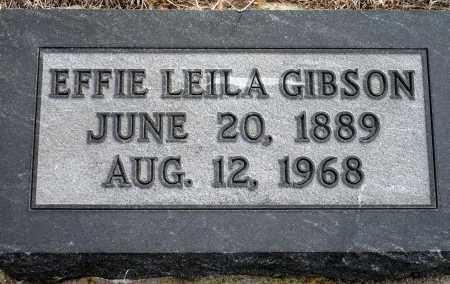 GIBSON, EFFIE LEILA - Keya Paha County, Nebraska | EFFIE LEILA GIBSON - Nebraska Gravestone Photos
