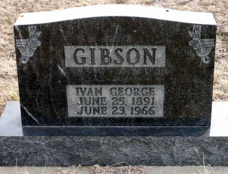 GIBSON, IVAN GEORGE - Keya Paha County, Nebraska   IVAN GEORGE GIBSON - Nebraska Gravestone Photos