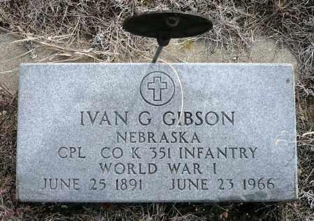 GIBSON, IVAN GEORGE - Keya Paha County, Nebraska | IVAN GEORGE GIBSON - Nebraska Gravestone Photos