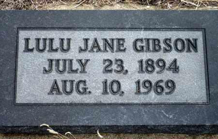 GIBSON, LULU JANE - Keya Paha County, Nebraska | LULU JANE GIBSON - Nebraska Gravestone Photos