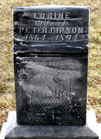 GIPSON, LORINE - Keya Paha County, Nebraska | LORINE GIPSON - Nebraska Gravestone Photos