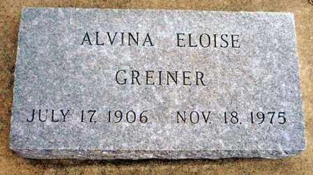 GREINER, ALVINA ELOISE - Keya Paha County, Nebraska   ALVINA ELOISE GREINER - Nebraska Gravestone Photos