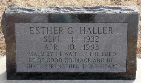 HALLER, ESTHER GERTRUDE - Keya Paha County, Nebraska | ESTHER GERTRUDE HALLER - Nebraska Gravestone Photos