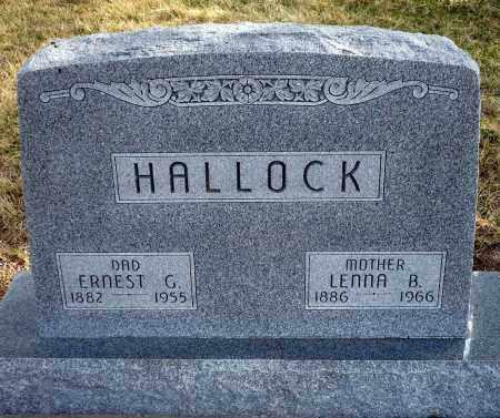 HALLOCK, ERNEST G. - Keya Paha County, Nebraska | ERNEST G. HALLOCK - Nebraska Gravestone Photos