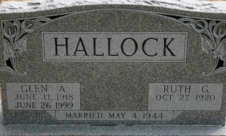 HALLOCK, GLEN A. - Keya Paha County, Nebraska | GLEN A. HALLOCK - Nebraska Gravestone Photos