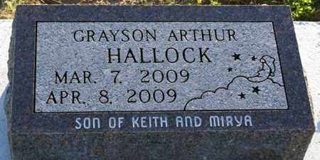 HALLOCK, GRAYSON ARTHUR - Keya Paha County, Nebraska | GRAYSON ARTHUR HALLOCK - Nebraska Gravestone Photos