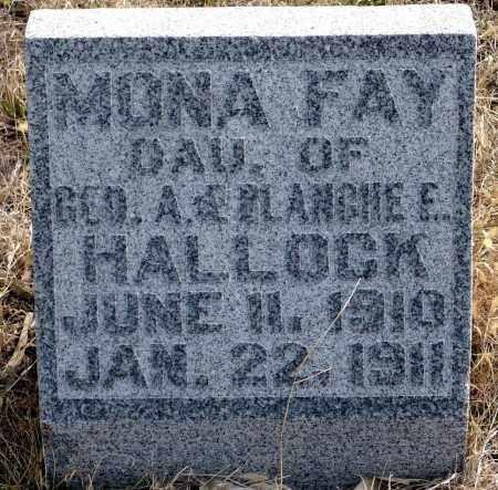 HALLOCK, MONA FAY - Keya Paha County, Nebraska   MONA FAY HALLOCK - Nebraska Gravestone Photos