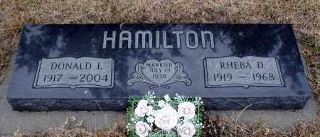 HAMILTON, DONALD IVAN - Keya Paha County, Nebraska | DONALD IVAN HAMILTON - Nebraska Gravestone Photos