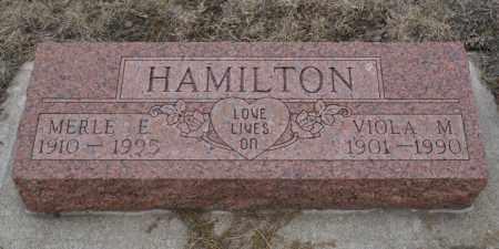 HAMILTON, MERLE E. - Keya Paha County, Nebraska   MERLE E. HAMILTON - Nebraska Gravestone Photos