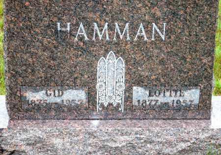 HAMMAN, GID - Keya Paha County, Nebraska | GID HAMMAN - Nebraska Gravestone Photos