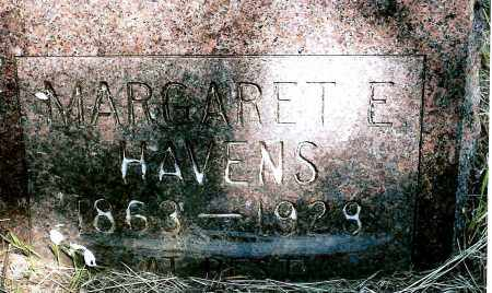 HAVENS, MARGARET E. - Keya Paha County, Nebraska | MARGARET E. HAVENS - Nebraska Gravestone Photos