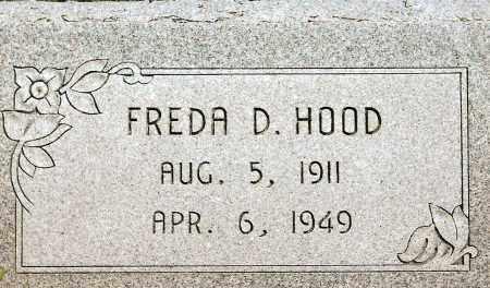 HOOD, FREDA D. - Keya Paha County, Nebraska | FREDA D. HOOD - Nebraska Gravestone Photos