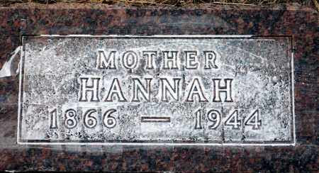 HORTON, HANNAH - Keya Paha County, Nebraska | HANNAH HORTON - Nebraska Gravestone Photos