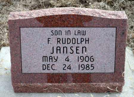 JANSEN, F. RUDOLPH - Keya Paha County, Nebraska   F. RUDOLPH JANSEN - Nebraska Gravestone Photos