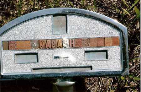 KAPASH, UNKNOWN ??? - Keya Paha County, Nebraska | UNKNOWN ??? KAPASH - Nebraska Gravestone Photos