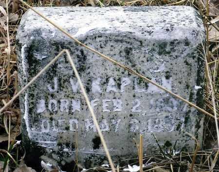 KAPLAN, J.V. - Keya Paha County, Nebraska | J.V. KAPLAN - Nebraska Gravestone Photos