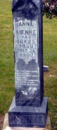 HOFFMAN KIENKE, HANNAH - Keya Paha County, Nebraska | HANNAH HOFFMAN KIENKE - Nebraska Gravestone Photos