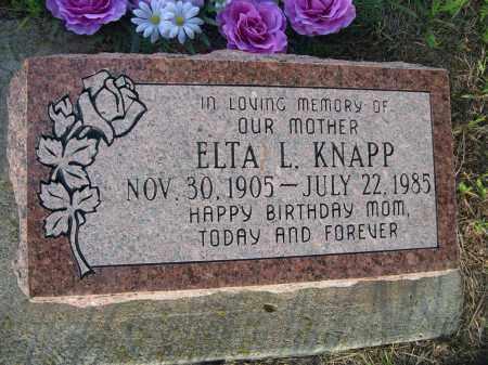 KNAPP, ELTA L. - Keya Paha County, Nebraska | ELTA L. KNAPP - Nebraska Gravestone Photos