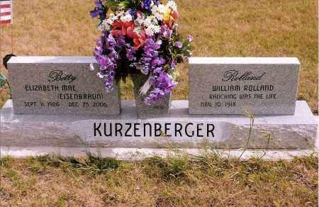 EISENBRAUN KURZENBERGER, ELIZABETH MAE (BETTY) - Keya Paha County, Nebraska | ELIZABETH MAE (BETTY) EISENBRAUN KURZENBERGER - Nebraska Gravestone Photos