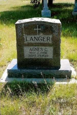 LANGER, AGNES C. - Keya Paha County, Nebraska   AGNES C. LANGER - Nebraska Gravestone Photos