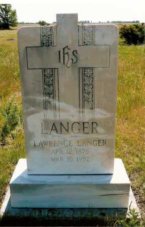 LANGER, LAWRENCE - Keya Paha County, Nebraska | LAWRENCE LANGER - Nebraska Gravestone Photos