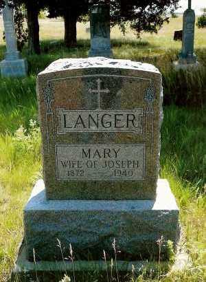LANGER, MARY - Keya Paha County, Nebraska | MARY LANGER - Nebraska Gravestone Photos
